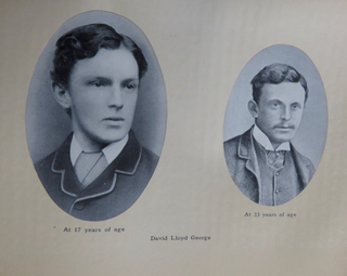 Lloyd George aged 17 and 23